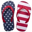 Patriotic Red White and Blue Flip Flop S — Stockfoto