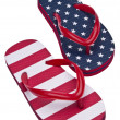 Patriotic Red White and Blue Flip Flop S - Lizenzfreies Foto