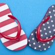 Patriotic Red White and Blue Flip Flop S — Stock Photo #3122111