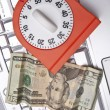Time, Money, and the Internet Conceptual — Stockfoto