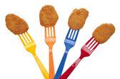 Chico nuggets de pollo amistoso — Foto de Stock