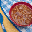 Franks and Beans — Stock Photo