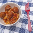 Stock Photo: AmericSpaghetti and Meatballs