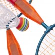 Stock Photo: Vibrant Badminton Equipment