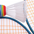 Vibrant Badminton Equipment — Stock Photo