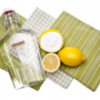图库照片: Natural Cleaning with Lemons, Baking Sodand Vinegar