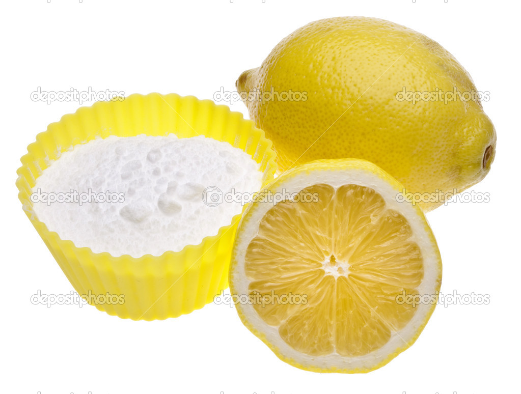 Lemons and Baking Soda are a Natural Environmentally Friendly Way to Clean Your Home.  Stock Photo #3319395