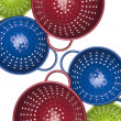 Colorful Colander Border or Background Image — Stock Photo