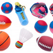 Variety of Toy Sports Objects — Stock Photo
