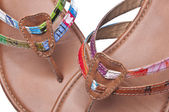 Recycled Sandals Background — Stock Photo
