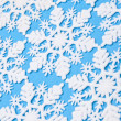 Snowflakes on Blue Background — Stok fotoğraf