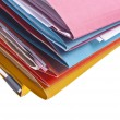 Royalty-Free Stock Photo: Colorful Files Border or Background Image