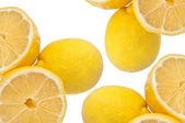 Fond de citron juteux — Photo