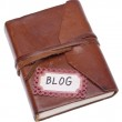 Old Journal with Blog Label — Stock Photo