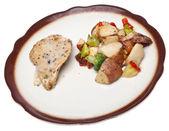 Gezonde gedeelte kip diner — Stockfoto