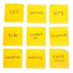 Business Themed Sticky Notes — Stock Photo