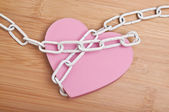 Heart in Chains — Stock Photo