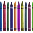 Vibrant Crayon Back to School Border Image — Stock Photo #3539242