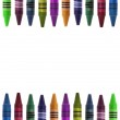 Vibrant Crayon Back to School Border Image — Stock Photo #3539244