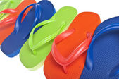 Summer Flip Flop Sandal Background — Stock Photo