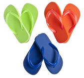 Flip Flop Sandals in Heart Shapes — Stock Photo