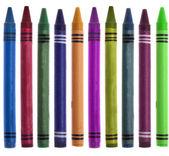 Crayon vibrante a escuela fronteriza de imagen — Foto de Stock