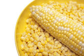 Fresh and Frozen Corn — Stock Photo