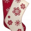 Stock Photo: Red and White Snowflake Pattern Holiday Stockings