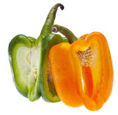 Entwined Bell Peppers — Stock Photo