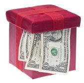 Geschenk geld — Stockfoto