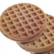 Breakfast Whole Wheat Waffles — Stockfoto