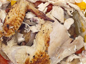 Leftover Roasted Chicken — Stock Photo