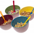 Bowls of Breakfast Cereal — Stock Photo