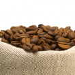 Royalty-Free Stock Photo: Coffee beans and burlap sack
