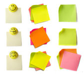Colored notes paper — Stock Photo