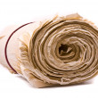 Rolled up old paper — Stockfoto