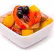 Stewed pork in fruit sauce — Stock Photo