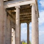 Erechtheion temple on acropolis, Athens — Stock Photo