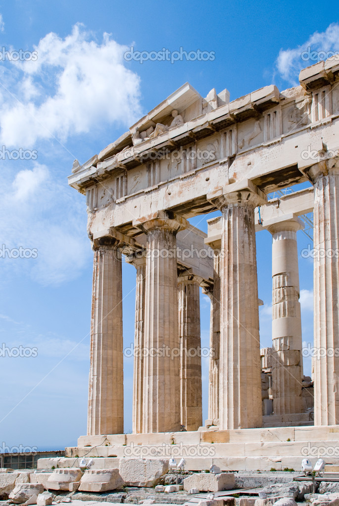 The Temple of Athena at the Acropolis, Parthenon, Athens, Greece — Stock Photo #3234522