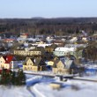 Faked tilt shift city - Stock Photo