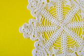 Homemade white napkin — Stock Photo