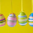 Stock Photo: Four ornate easter eggs
