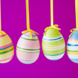 Four colorful easter eggs — Stockfoto