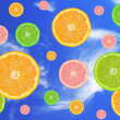 Fruits in a sky — Stock Photo