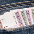 Banknotes in a pocket - Foto de Stock