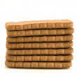 Pile of brown biscuits — Stock Photo