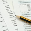 Financial accounting background — Stock Photo
