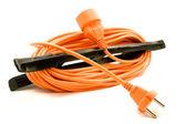 An orange extension cord — Stock Photo