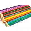 Pile of multicolored pencils — Stock Photo