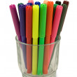 Stock Photo: Multicolored felt tip pens